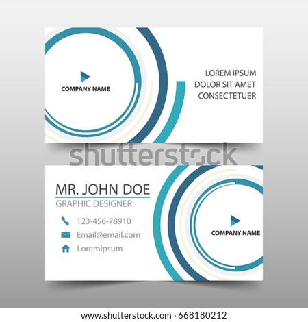 Blue circle corporate business card name stock photo photo vector blue circle corporate business card name card template horizontal simple clean layout design template friedricerecipe Choice Image