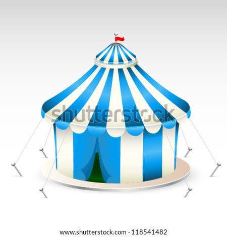 Blue circus tent vector illustration - stock vector