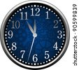 Blue Clock - stock vector