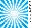 blue color burst background. Vector illustration - stock