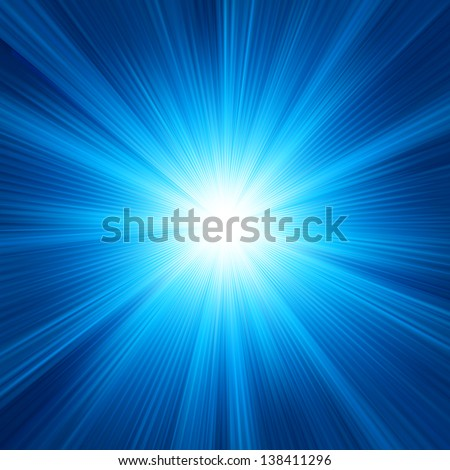 Blue color design with a burst. EPS 10 vector file included - stock vector