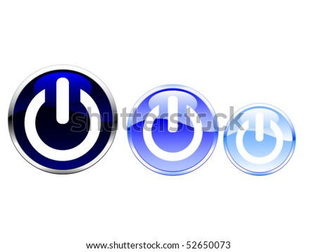 blue colored buttons - stock vector