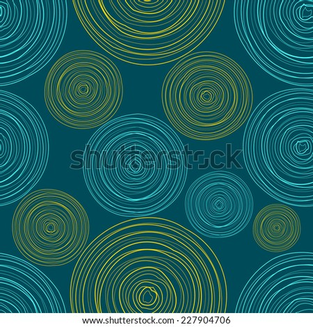 Blue Colored Circles Seamless Pattern - stock vector