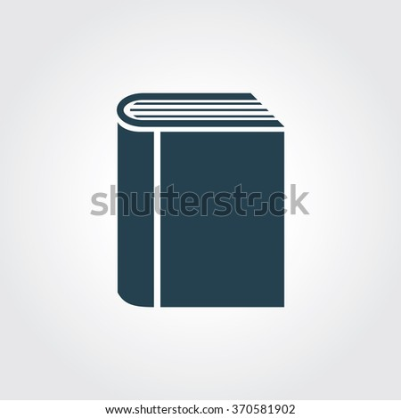Blue Colored Icon Book On Gray Stock Vector HD (Royalty Free ...