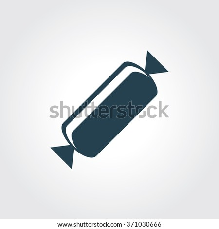 Blue Colored Icon of Candy On Gray Color Background. Eps-10. - stock vector