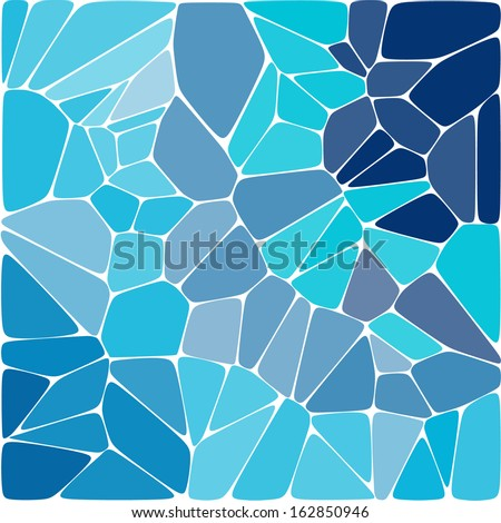 Blue colorful mosaic pattern. Vector background. - stock vector