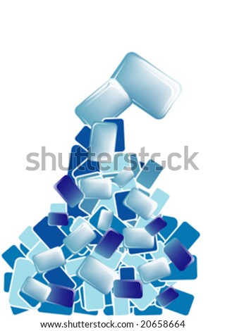 blue combination cube, background vector
