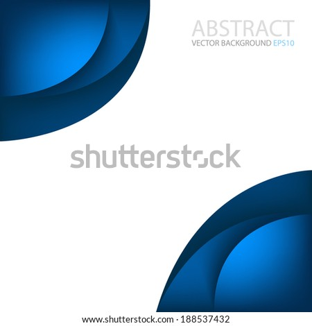Blue corner on white background graphic vector for text and message modern website design - stock vector