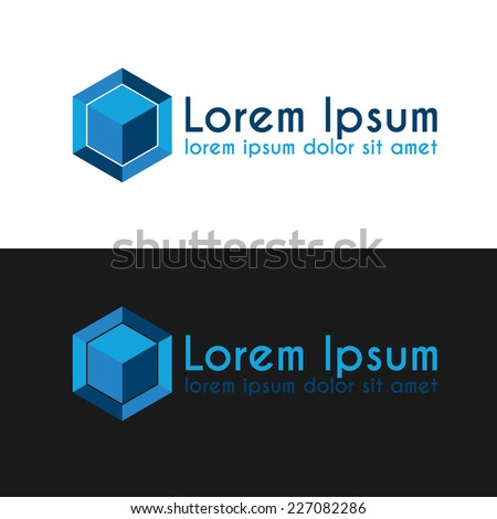 Abstract Cube Logo Design Vector Template Stock Vector