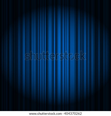 blue curtains on theater or cinema stage awards background - stock vector
