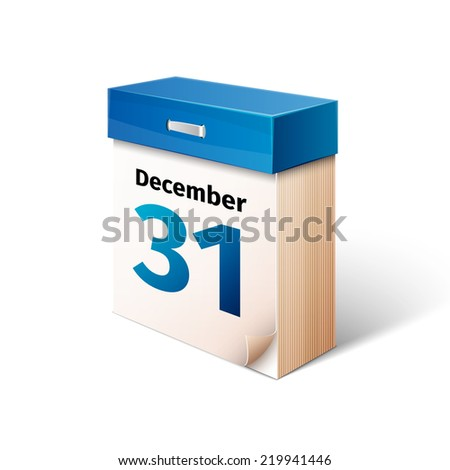 blue 3d calendar icon isolated on white - stock vector