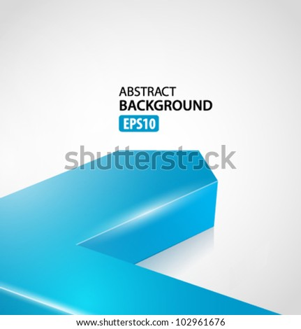 Blue 3d graph arrow move up vector background - stock vector