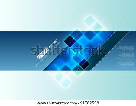 Blue decorative background - vector illustration - stock vector