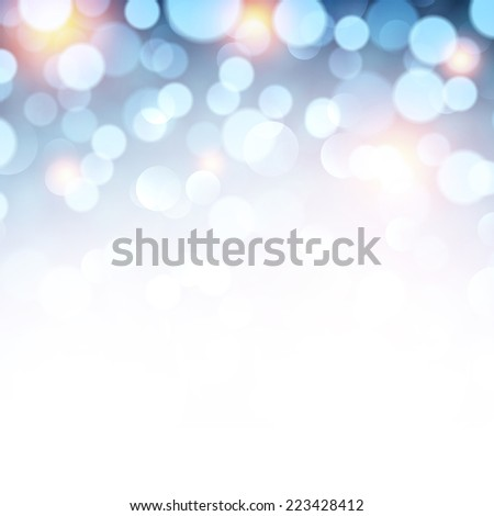 Blue defocused christmas background. Bright lights. Vector illustration. - stock vector