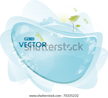 Blue design, eps-10 - stock vector
