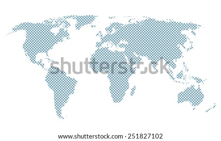 blue diagonal line pattern world map