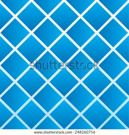 blue diamond shapes  - stock vector