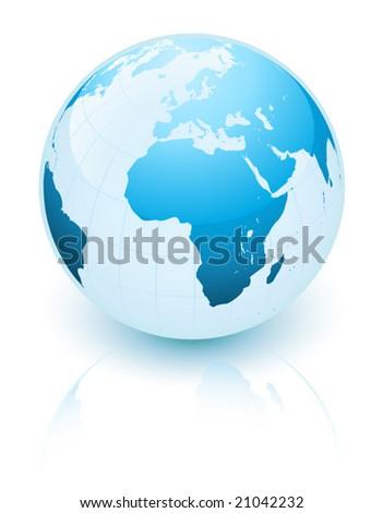 Blue earth - stock vector