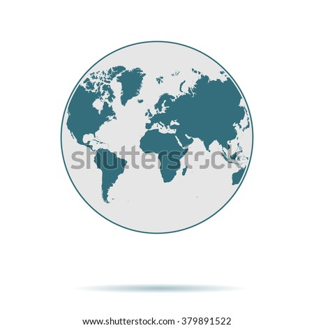 Blue Earth icon isolated on background. Modern flat pictogram, business, marketing, internet concept. Trendy Simple vector symbol for web site design or button to mobile app. Logo illustration  - stock vector