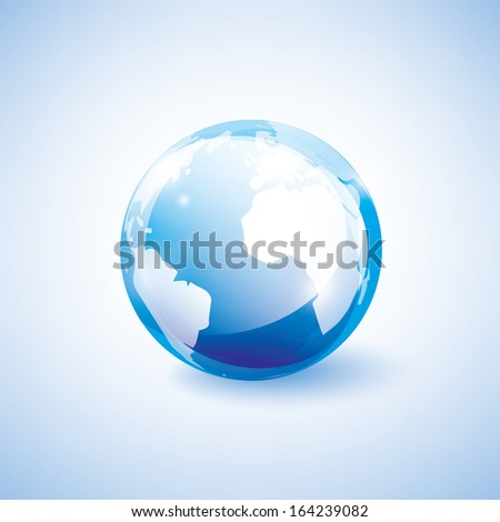 blue earth vector icon