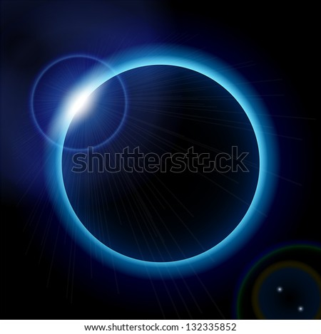 Blue eclips eps10 - stock vector