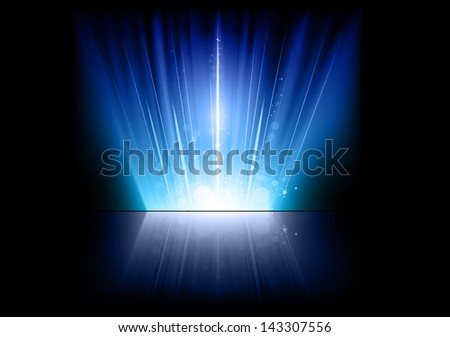 blue effect on the black background - stock vector