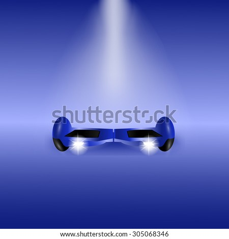 Blue Electric scooter - stock vector