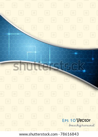 Blue elegant abstract background - stock vector