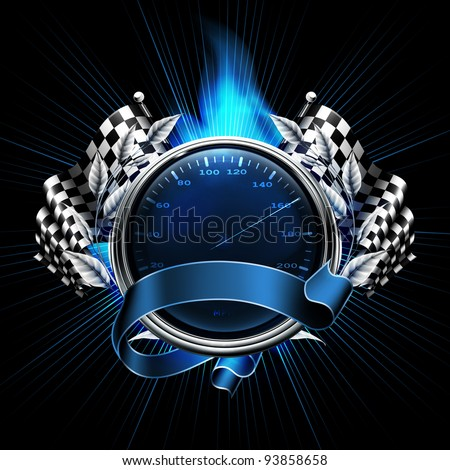 Blue Emblem Races, 10eps - stock vector