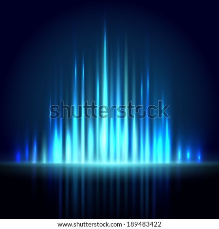 Blue equalizer abstract background.  Vector illustration - stock vector