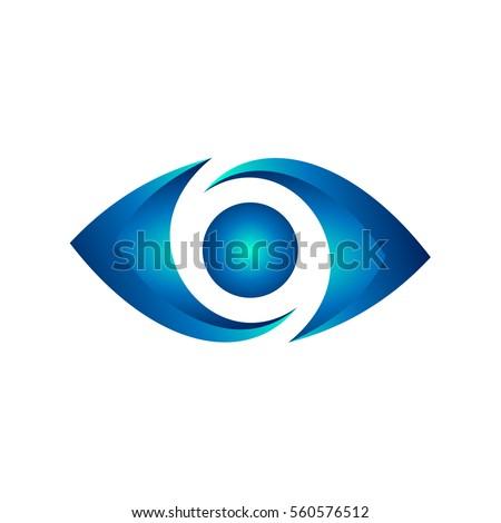 Blue Eye Stock Vector 560576512 Shutterstock