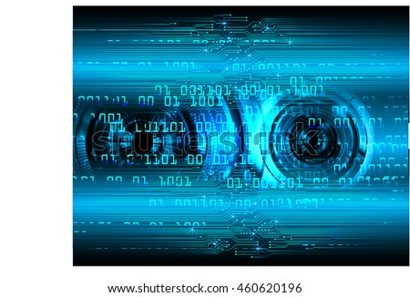 blue eye abstract cyber future technology concept background, illustration, circuit, binary code. move motion speed