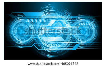 blue eye abstract cyber future technology concept background, illustration, circuit, binary code. move motion speed. vector. sci-fi