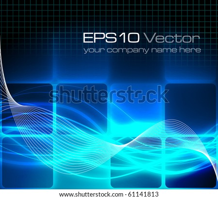Blue fantasy background - vector illustration - stock vector