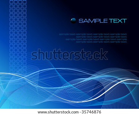 Blue fantasy composition - vector illustration - stock vector