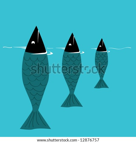 Blue Fish - stock vector