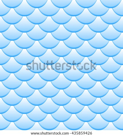 Blue Fish Scales seamless pattern - vector illustration - stock vector