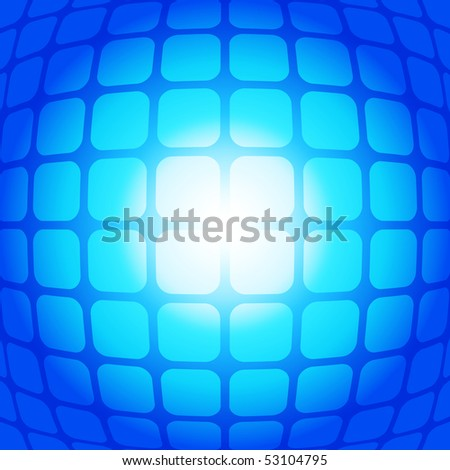 Blue fisheye square vector background