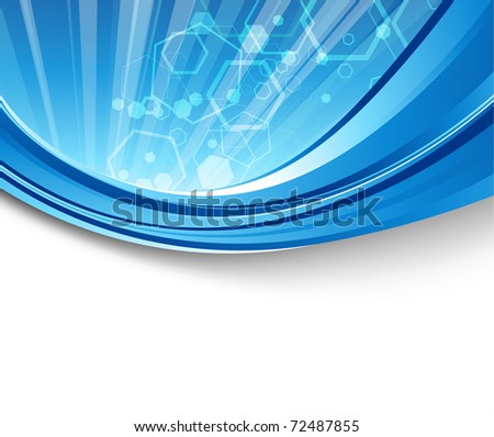 Blue flare - abstract elegant background. Vector illustration - stock vector