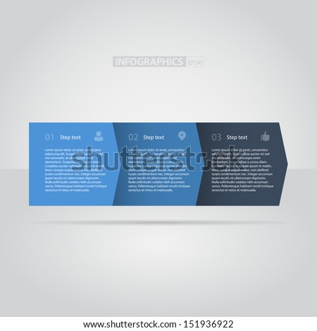 Blue Flat Step by Step / EPS10 Vector Illustration / - stock vector
