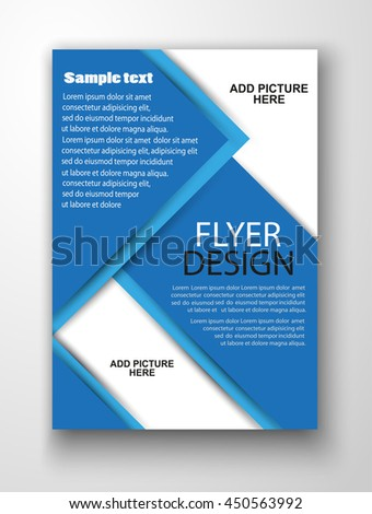 Blue Flyer Template Business Education Presentation Stock Vector