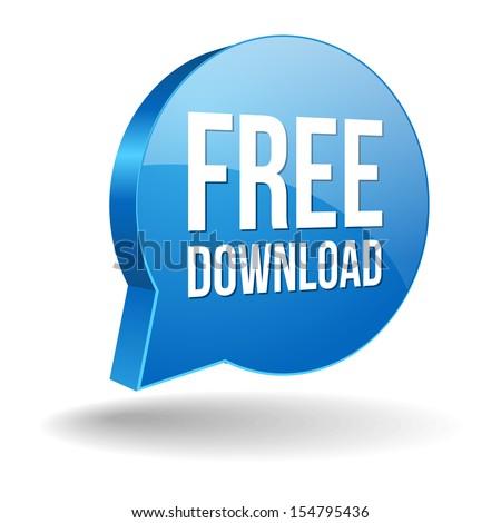 Blue free download speech bubble - stock vector