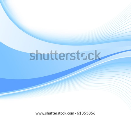 Blue fresh power wave. Vector illustration - stock vector