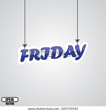 Blue Friday Sign Hanging On Gray Background - EPS.10 Vector - stock vector