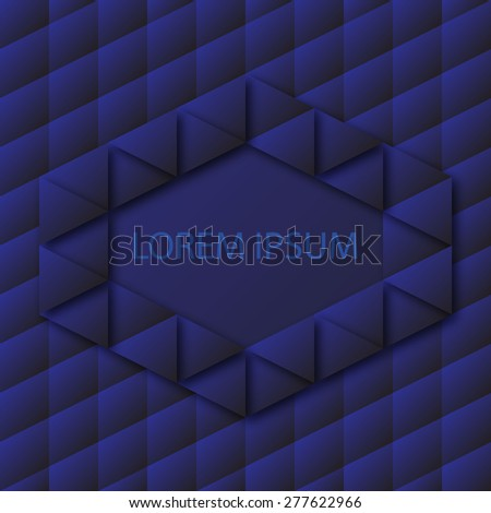 Blue geometric background with place for your text
