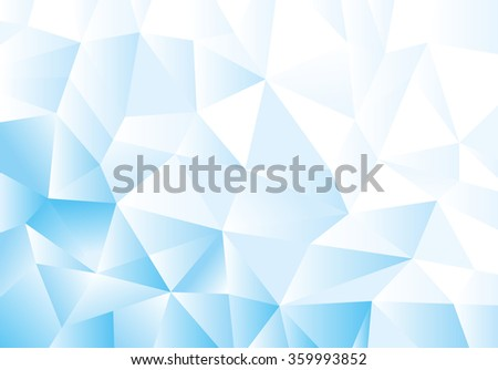 Blue geometric pattern, triangles background, polygonal design. Vector illustration