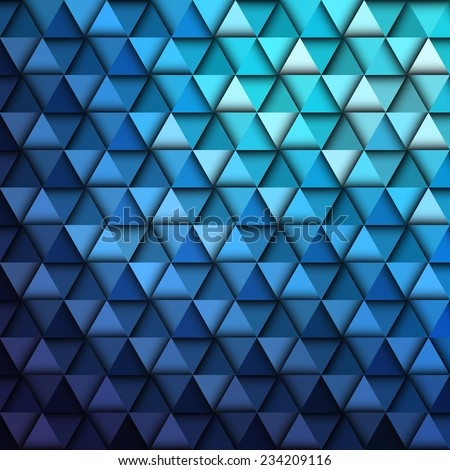 Blue Geometric Pattern, vector eps10 illustration - stock vector