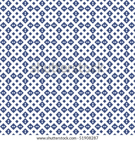 Blue geometric pattern; vector format - stock vector