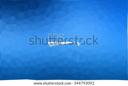 Blue geometric rumpled triangular low poly origami style gradient illustration graphic background. Vector polygonal design for your business. - stock vector