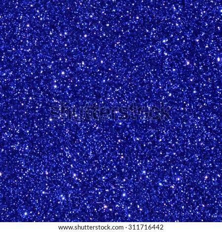 Blue glitter seamless pattern/ texture. Vector illustration. - stock vector